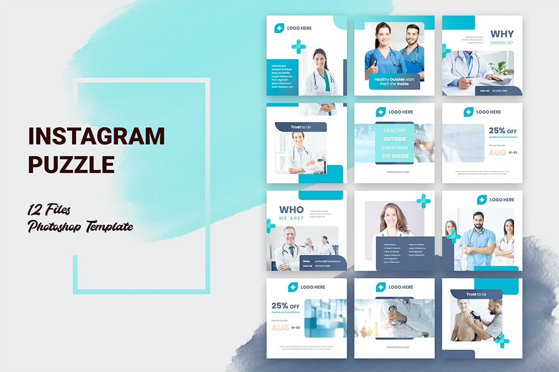 insta-grid-med Instagram Grid Templates: 10 Examples + Tips design tips  Inspiration|instagram|templates