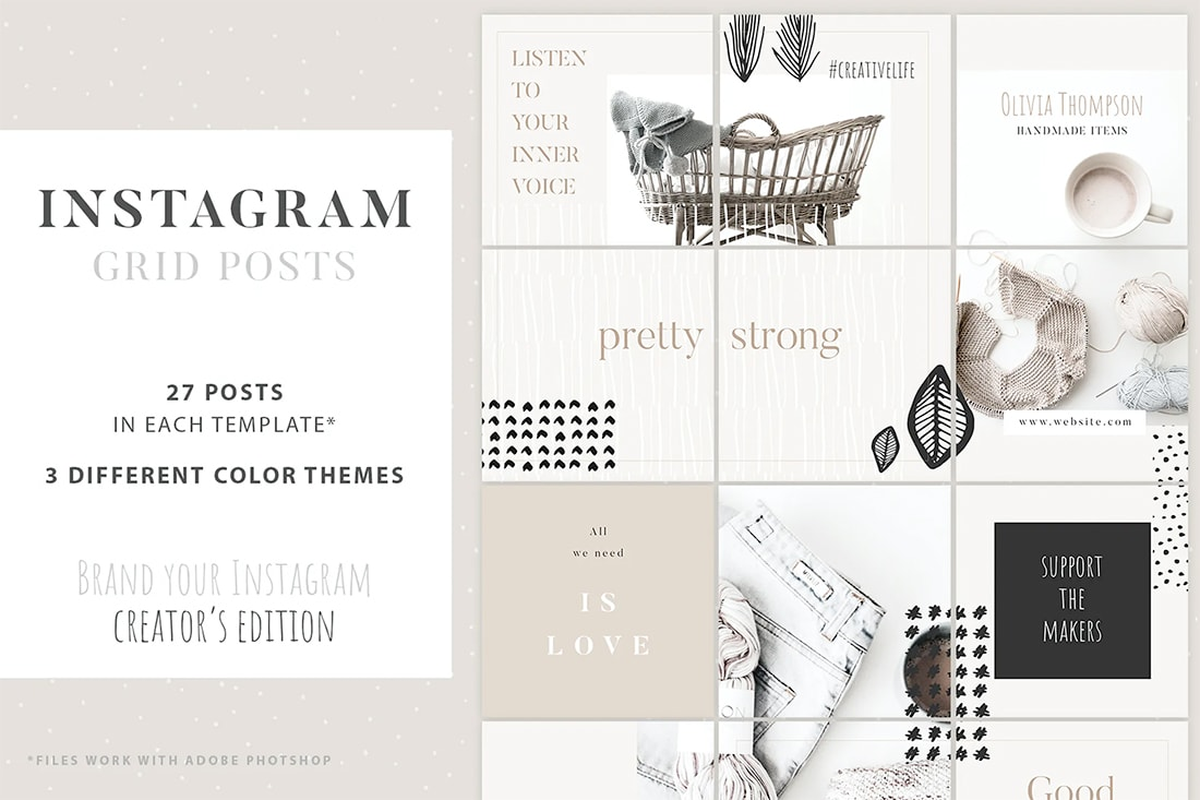 insta-grid-post Instagram Grid Templates: 10 Examples + Tips design tips  Inspiration|instagram|templates