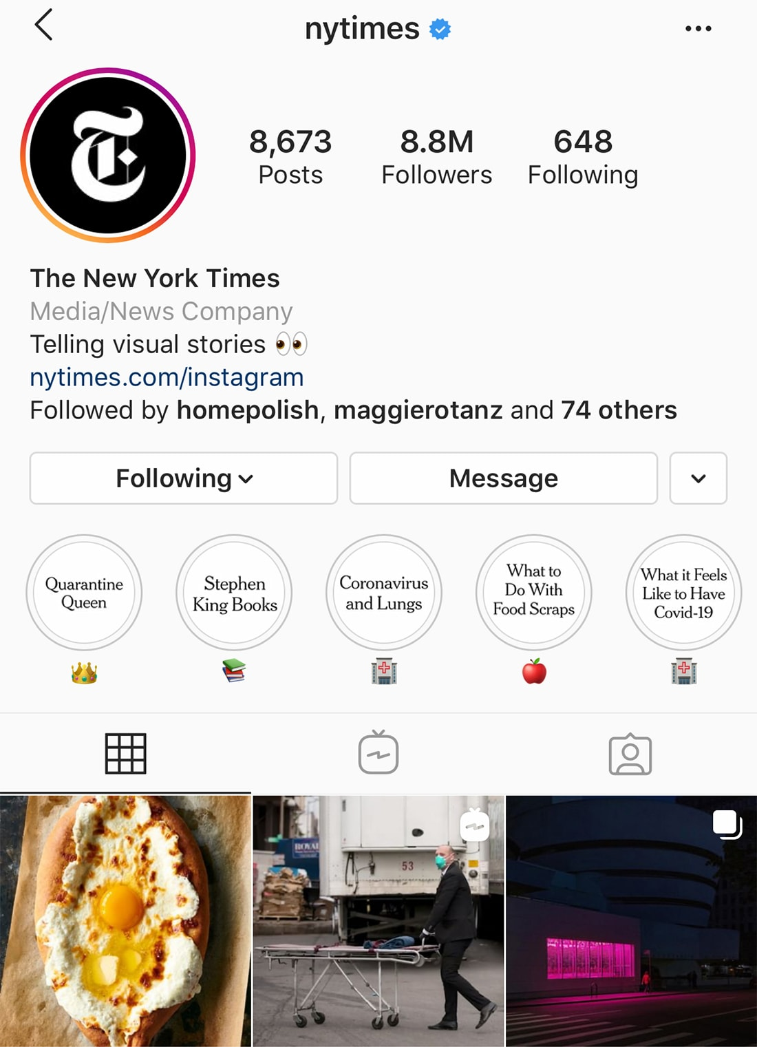 insta-highlights 8 Tips for Designing Instagram Stories That Don't Suck design tips