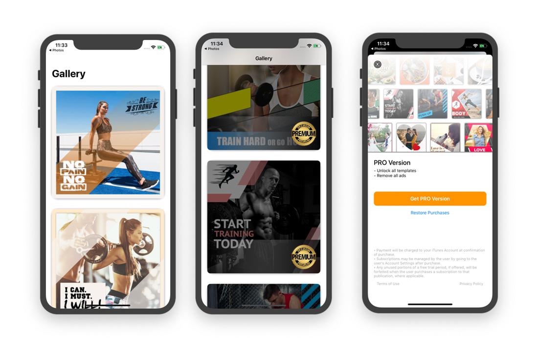 insta post maker ios app template
