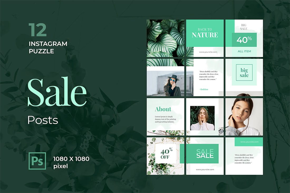 insta-sale Instagram Grid Templates: 10 Examples + Tips design tips  Inspiration|instagram|templates