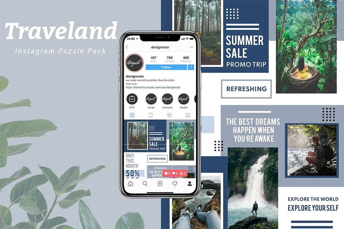 insta-travel Instagram Grid Templates: 10 Examples + Tips design tips  Inspiration|instagram|templates