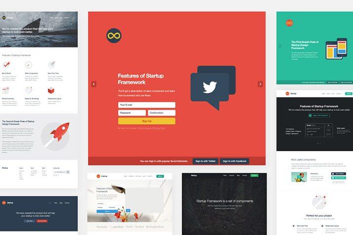 The Startup Framework: Simple Web Mockups