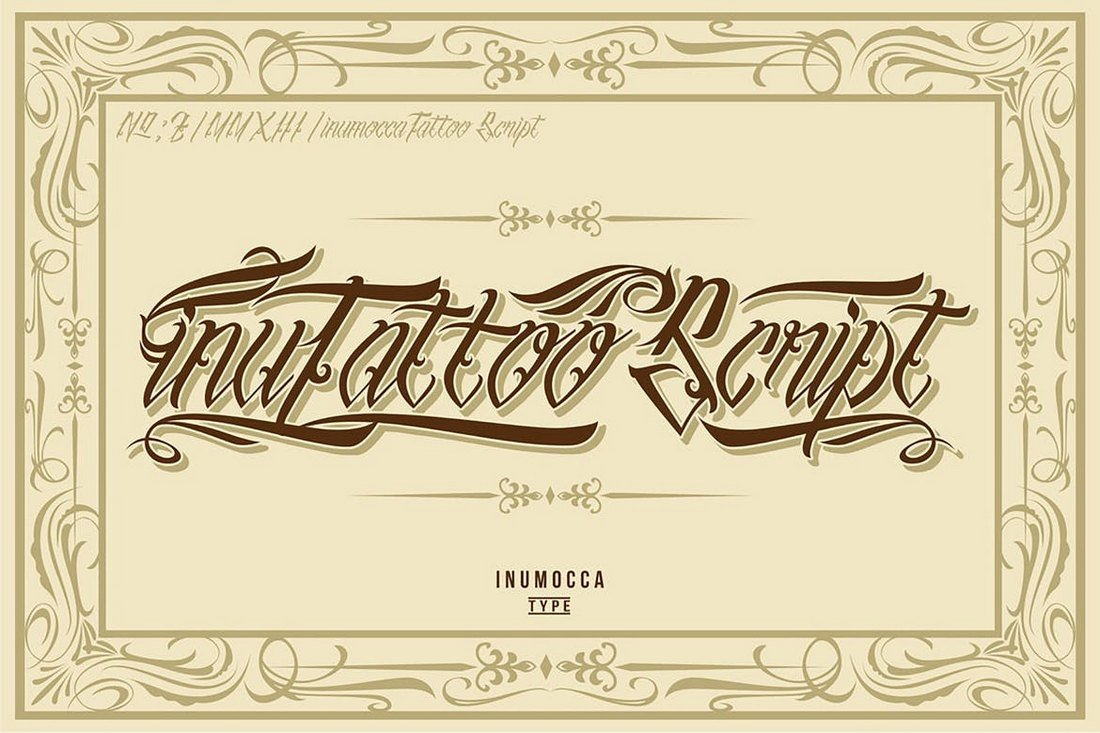 inuTattoo-Script-Tattoo-Font 20+ Best Tattoo Fonts & Lettering design tips