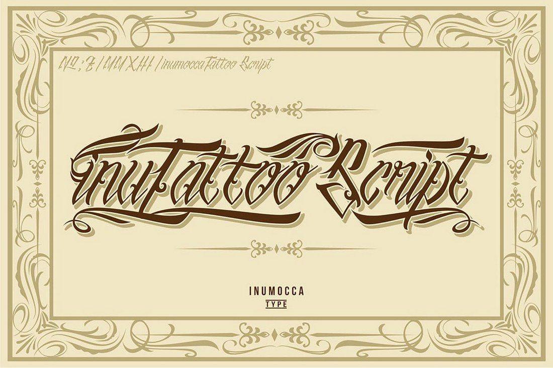 inuTattoo-Script 35+ Best Blackletter Fonts design tips