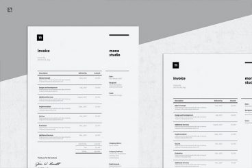 20+ Best Invoice Templates for InDesign & Illustrator (Free + Premium)