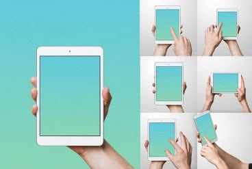 50+ iPad Mockup PSD & PNG Templates