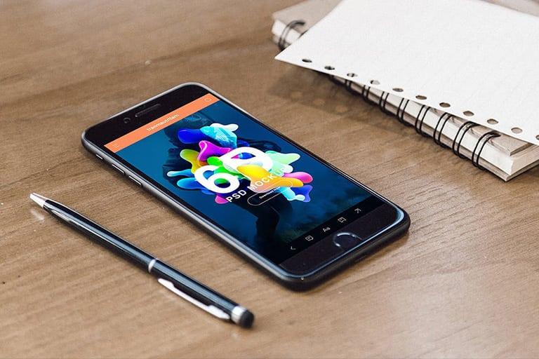 20+ Best iPhone 6 + 7 Mockup PSD Templates