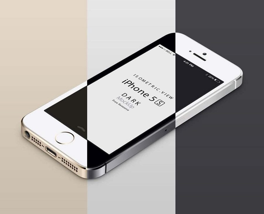 Iphone 5s 360 View 3d View Iphone 5s Mockup Pack