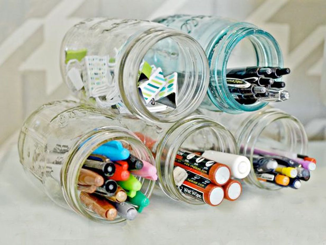 jars 20 DIY Projects to Improve Your Freelance Office design tips