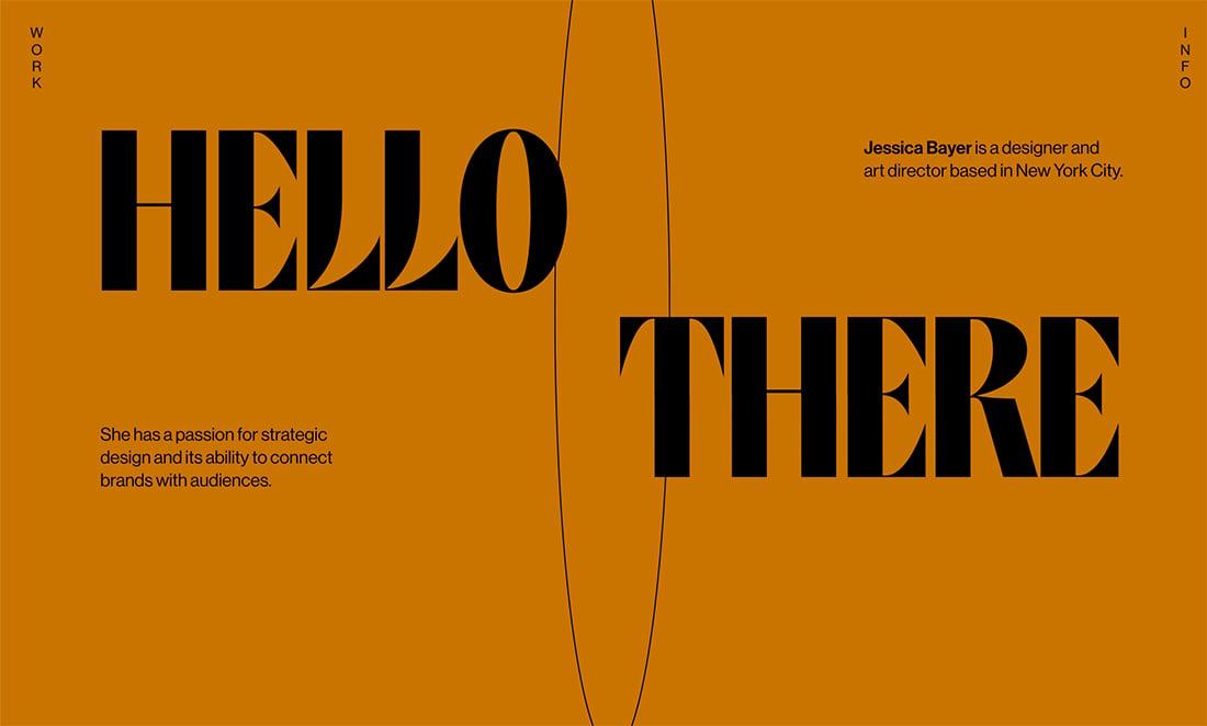 jessicabayer 20+ Portfolio Design Trends in 2020 design tips