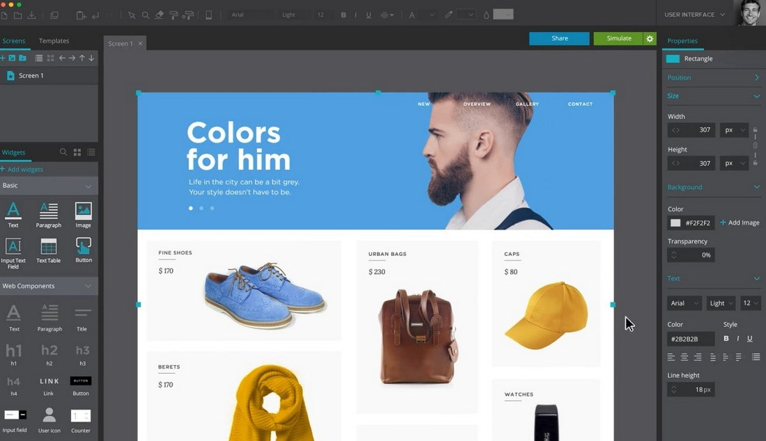 justinmind-2 10 Best Prototyping Tools for Designers 2021 design tips