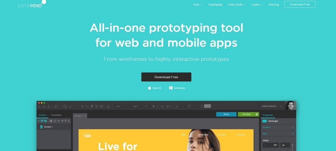 justinmind 10 Best Prototyping Tools for Designers 2020 design tips  Software