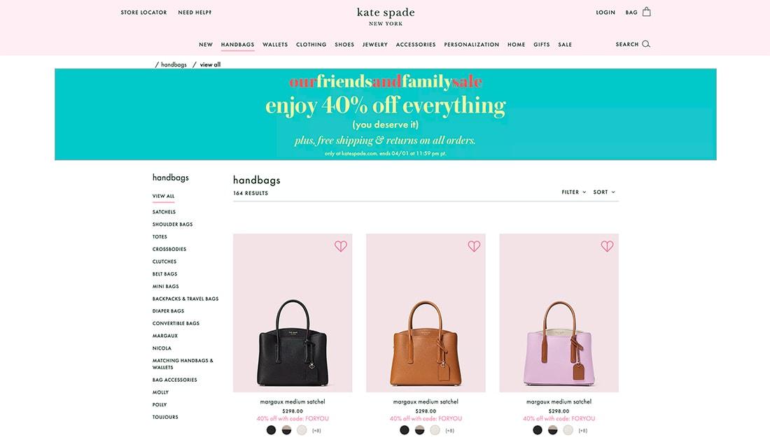 katespade 7 Tips to Improve Your E-Commerce Website Design design tips  Business|business|e-commerce|web design