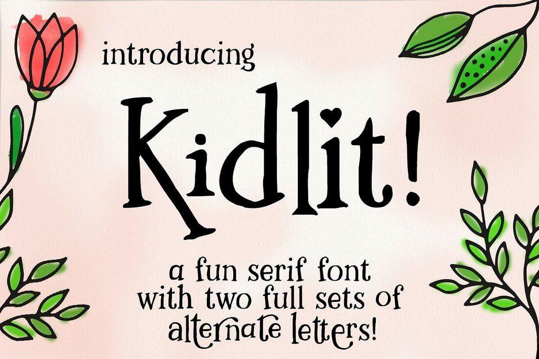 kidlit-1-hero- 100+ Best Modern Serif Fonts design tips