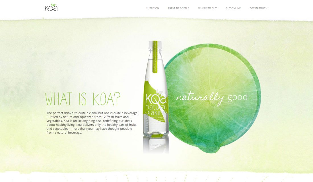 koa2 Design Trend: Using Watercolor Patterns in Web Design design tips