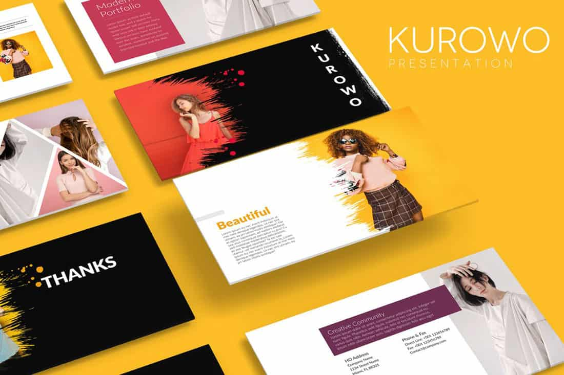 kurowo 20 Stylish PowerPoint Color Schemes design tips