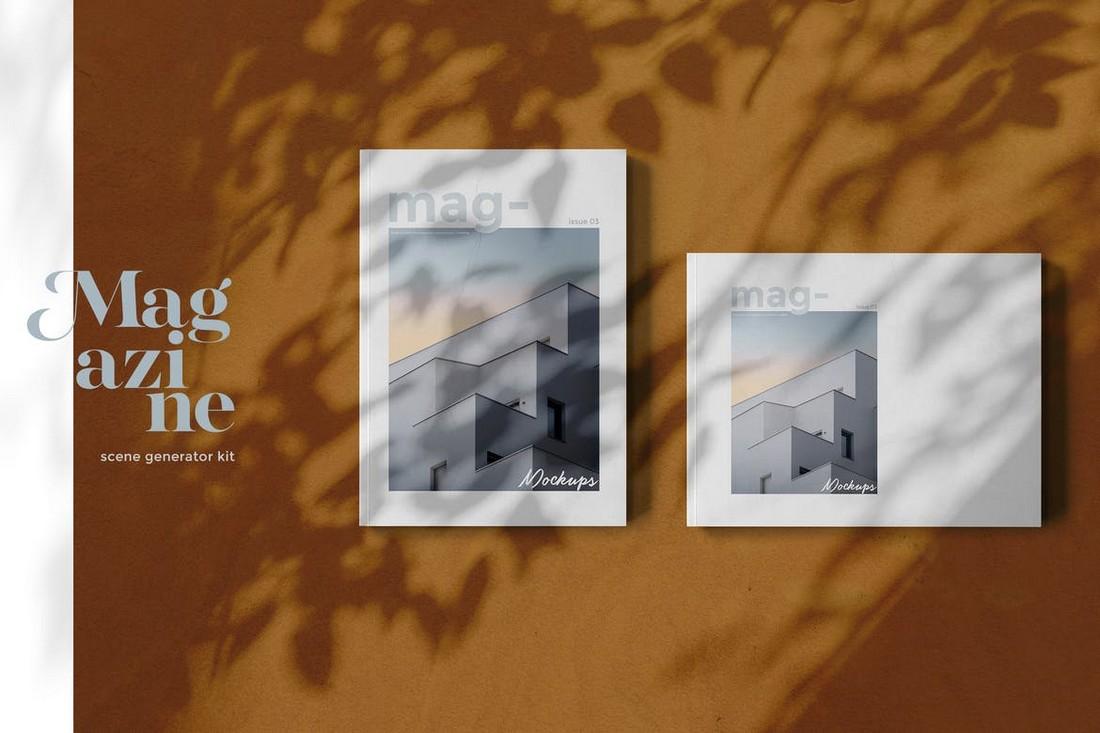 landscape Magazine Mockups