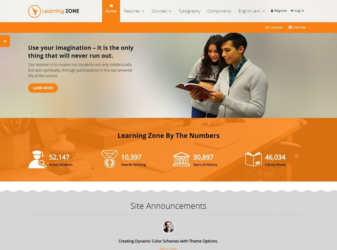 learningzone-moodle-theme 15+ Best Moodle Themes of 2019 design tips