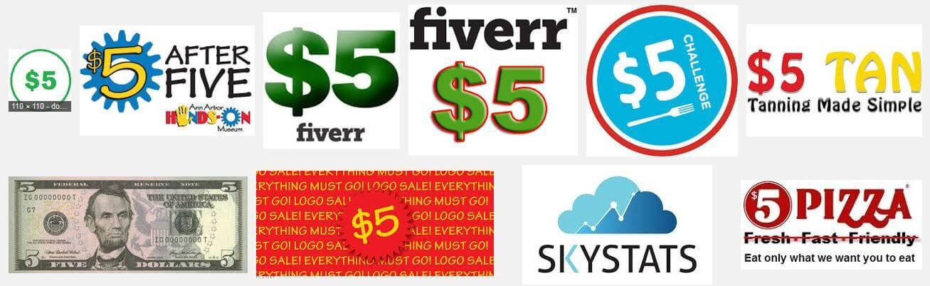 $5 logo