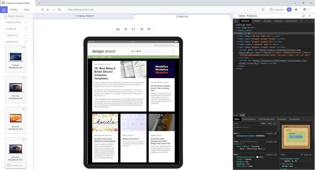 lt browser debug
