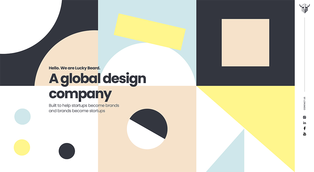luckybeard Design Trend: Geo Shapes & Patterns (With Animation) design tips