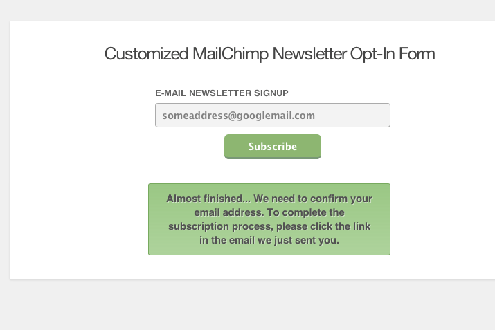 tutorial screenshot mailchimp customize css howto optin form