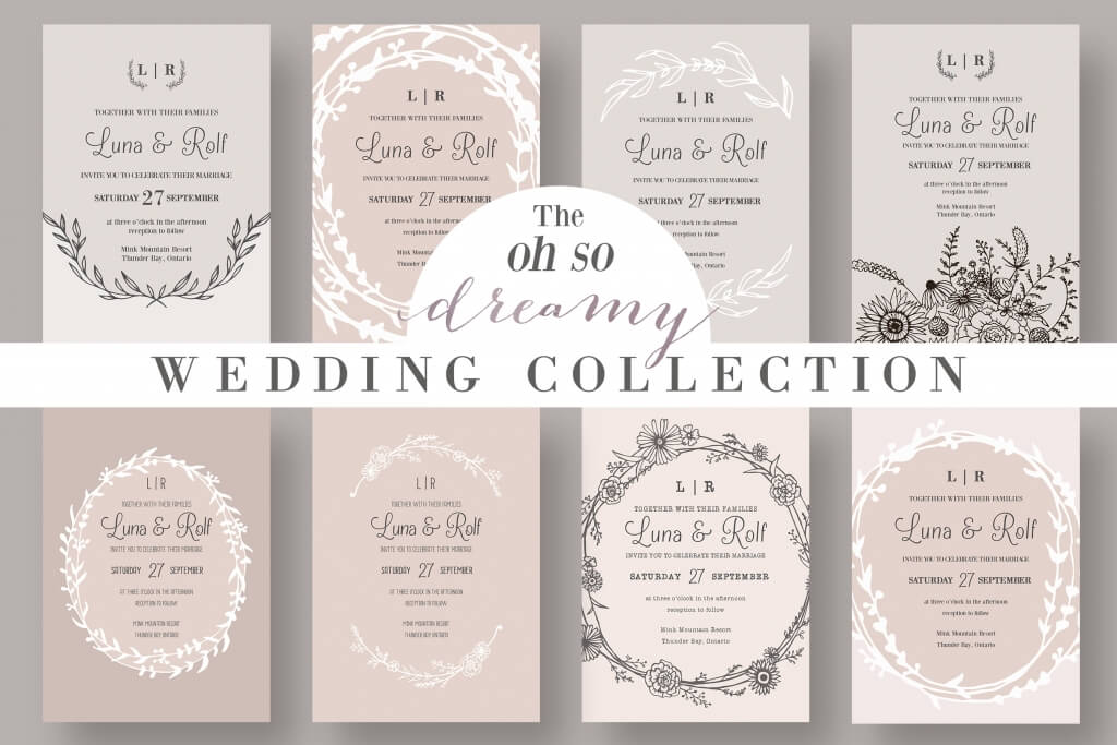 90 gorgeous wedding invitation templates design shack the dreamy wedding collection stopboris Image collections