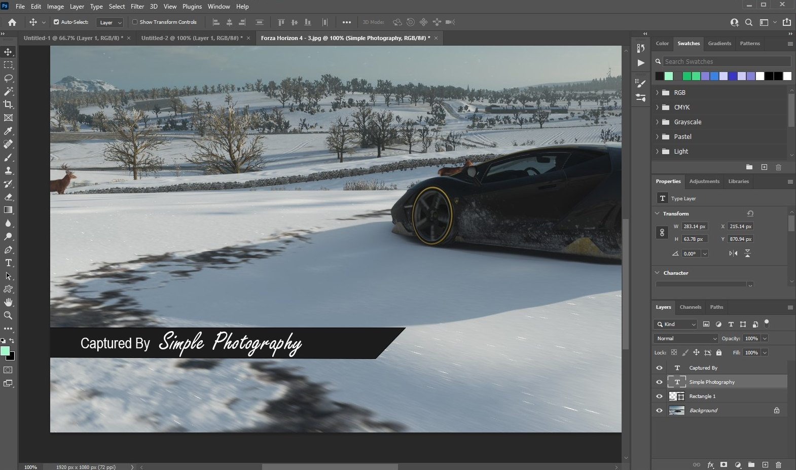 make watermark in photoshop - text watermark 2