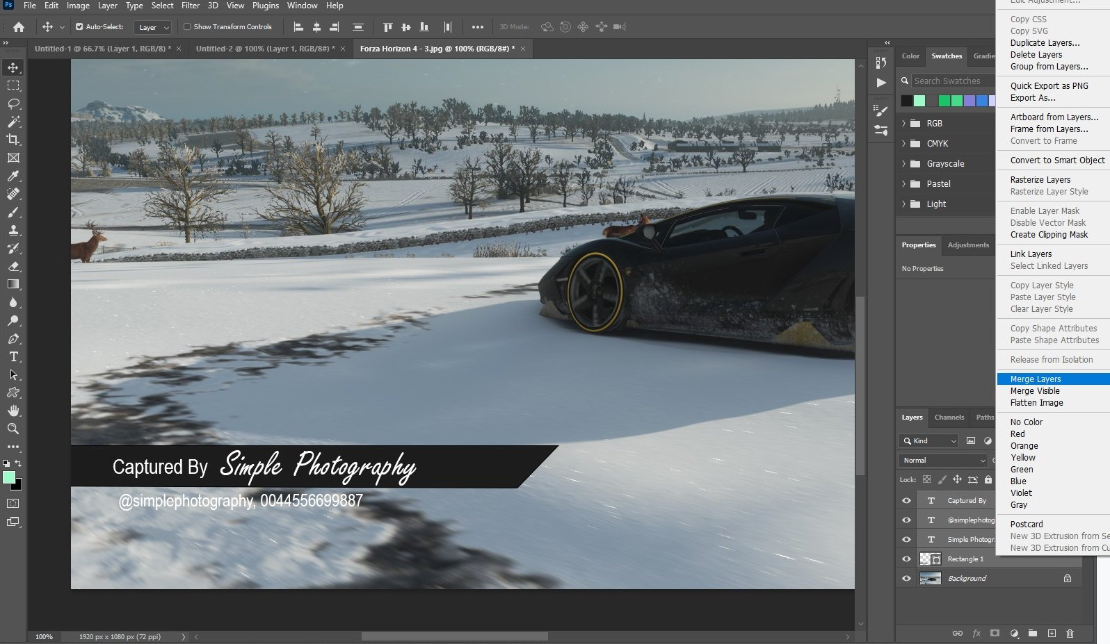 make watermark in photoshop - text watermark 3
