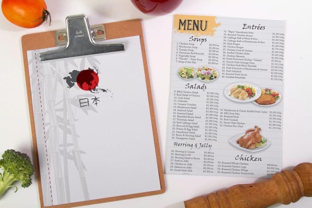 menu-mockups-12-1024x683 20+ Menu Mockup Templates (Free & Pro) design tips