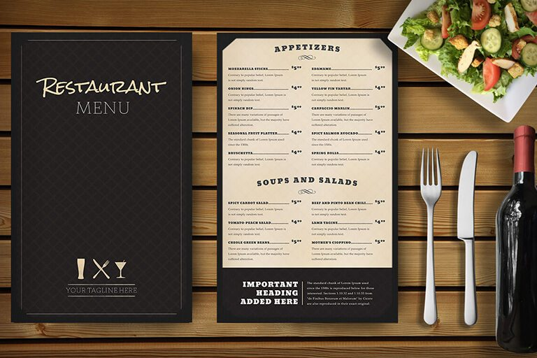 30 Food U0026 Drink Menu Templates | Design Shack
