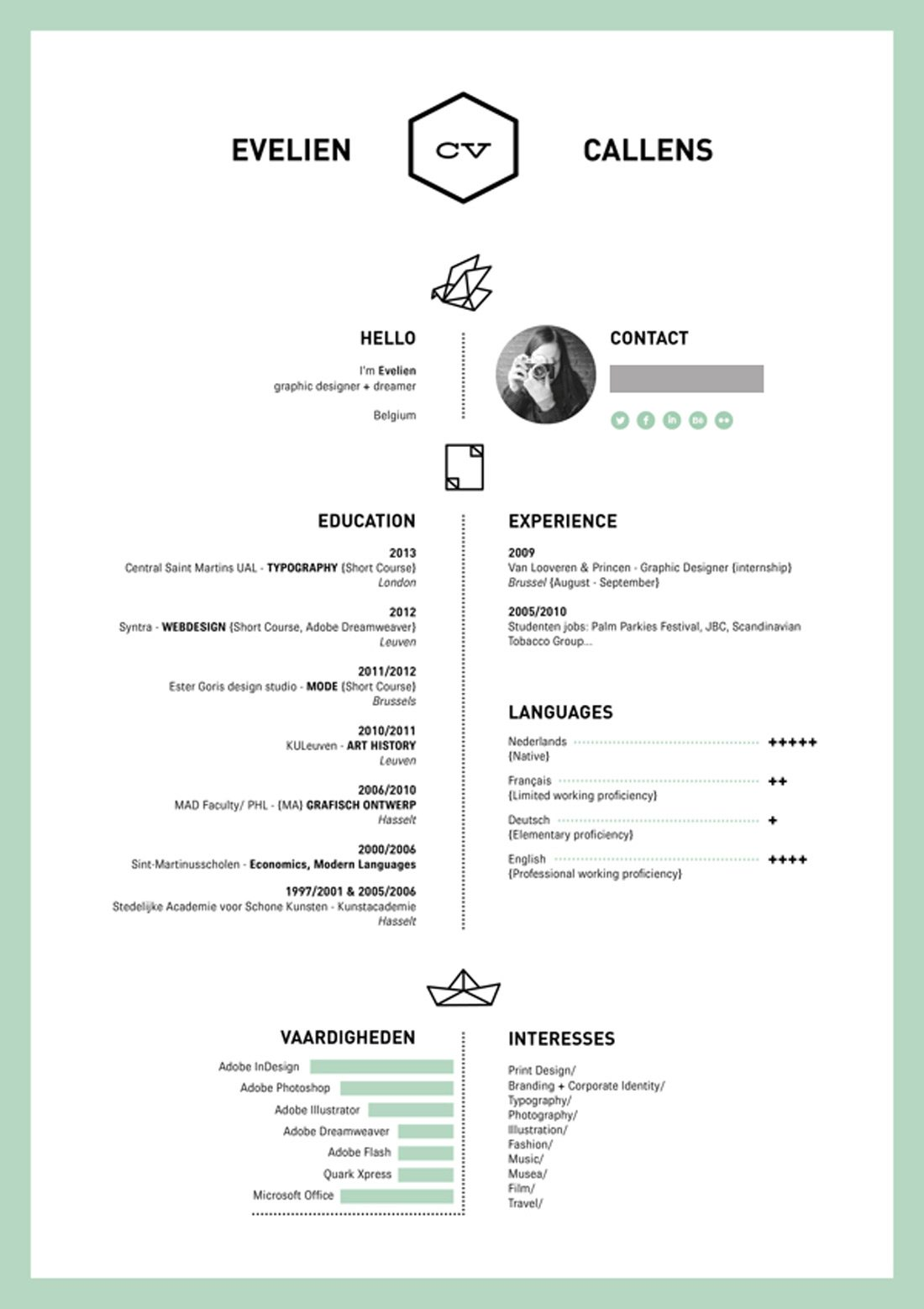 resume design - Languages On Resume