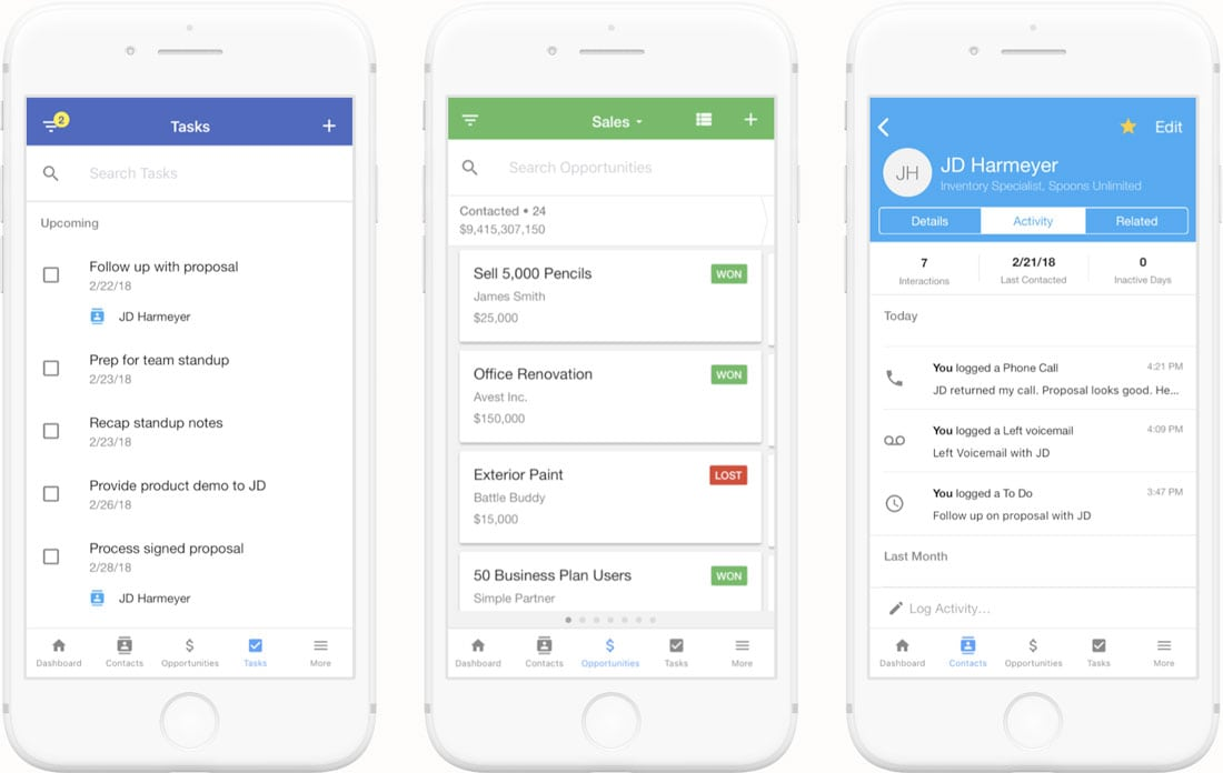 mobile-crm Copper: The Customer-Centric CRM design tips