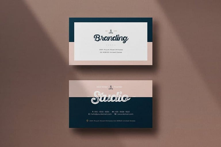 Modern Business Card Templates (Word + PSD)