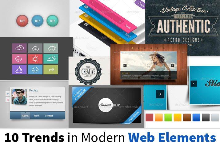 modern web elements