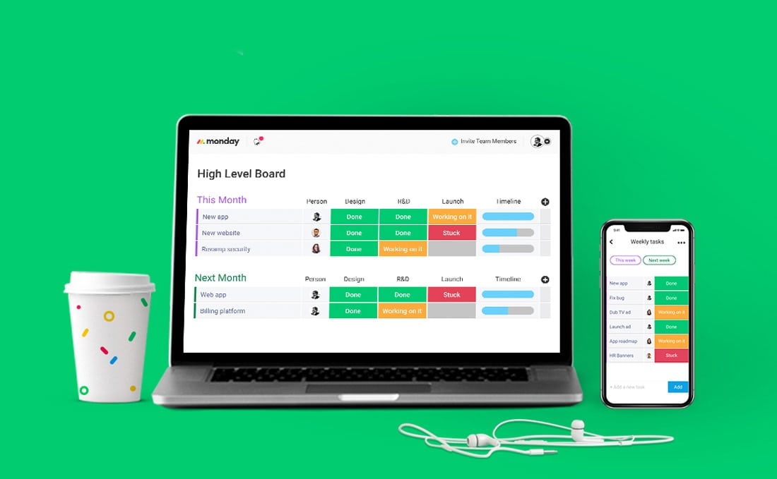 monday-app Monday: The Ultimate Team Management Tool design tips
