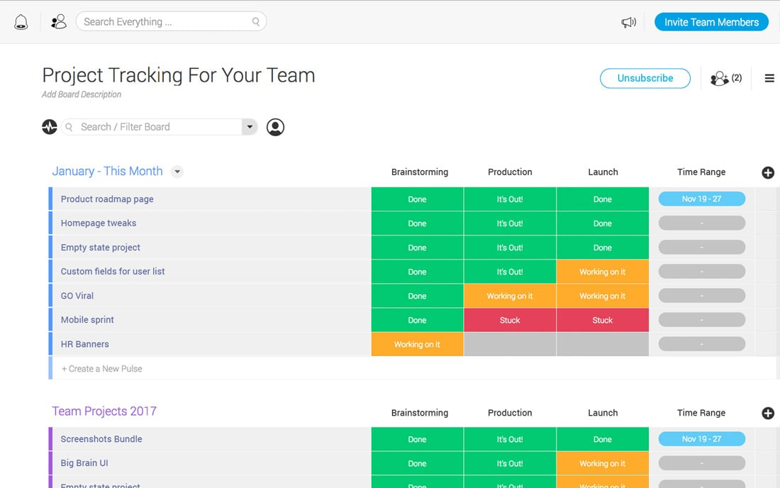 monday-team Monday: The Ultimate Team Management Tool design tips
