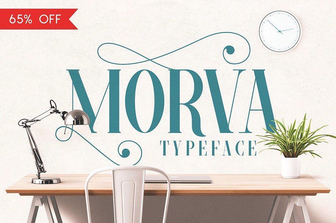 morva1discount- 100+ Best Modern Serif Fonts design tips
