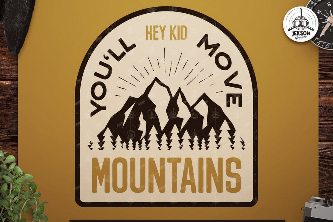 mountains-vintage-badge 7 New & Modern Color Trends 2021 design tips