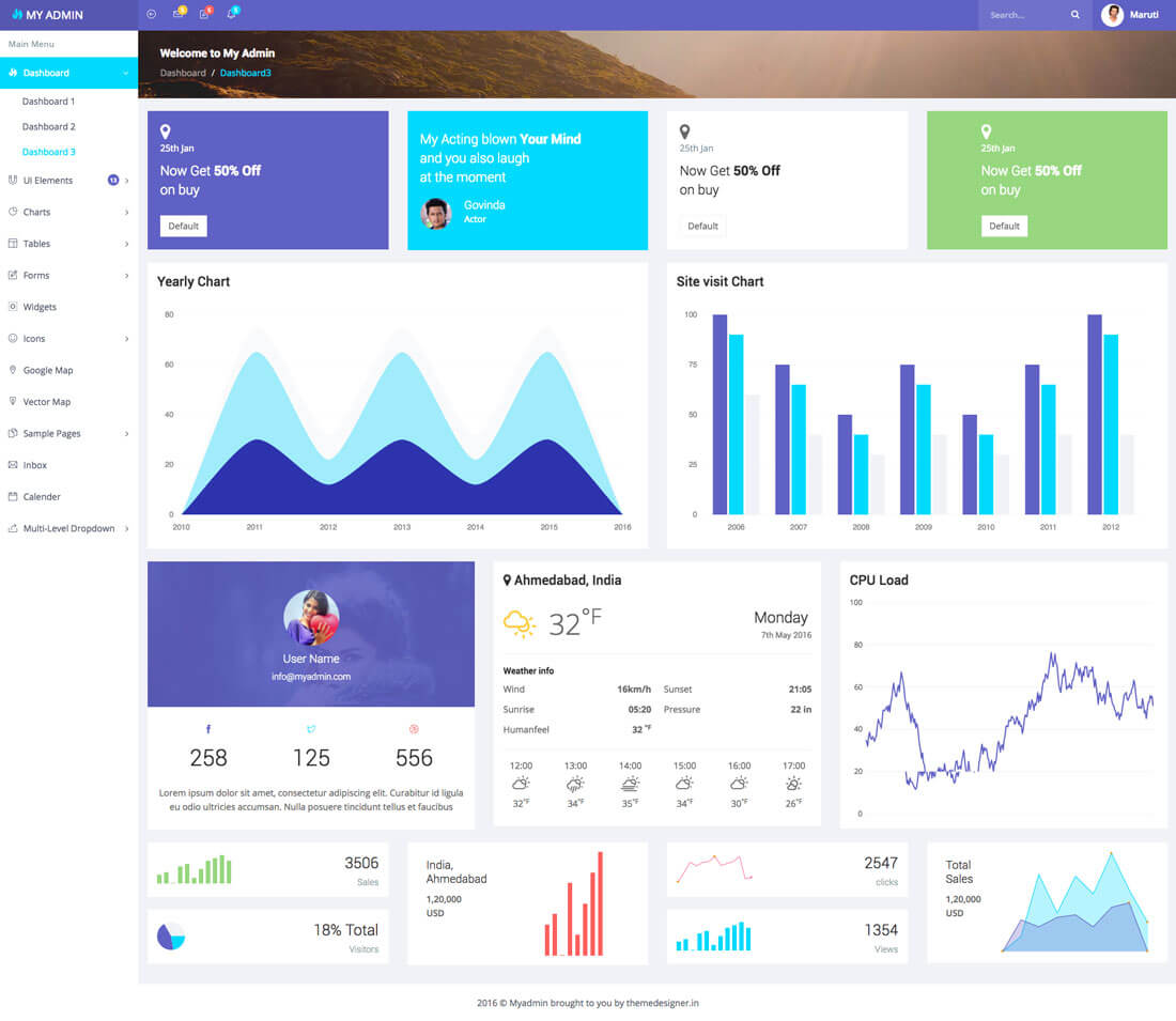 my-admin-template 40+ Best Bootstrap Admin Templates of 2019 design tips