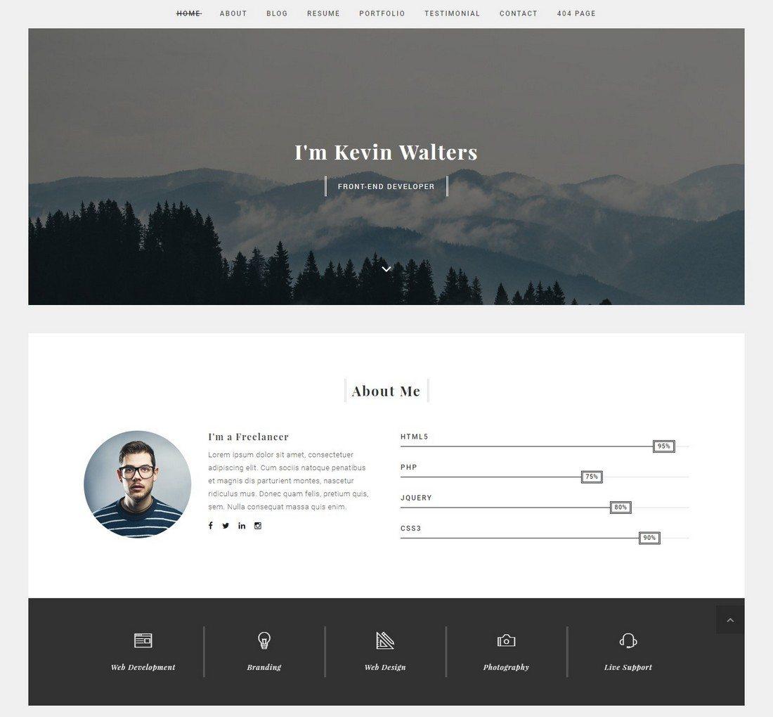 20+ Minimal Bootstrap Templates | Design Shack