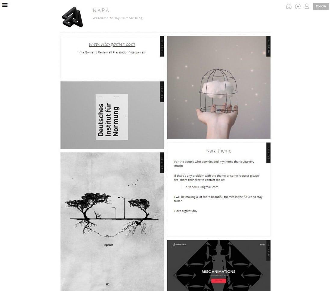 nara-tumblr-theme 50+ Best Free & Premium Tumblr Themes 2018 design tips