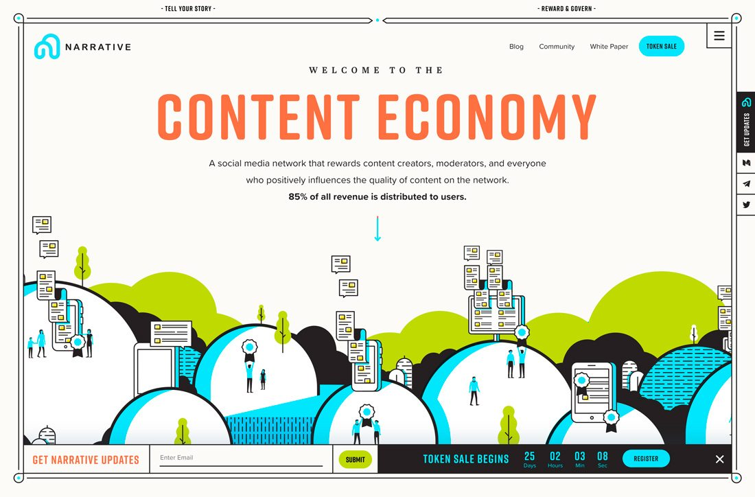 narrative How to Design Readable Content for the Web design tips