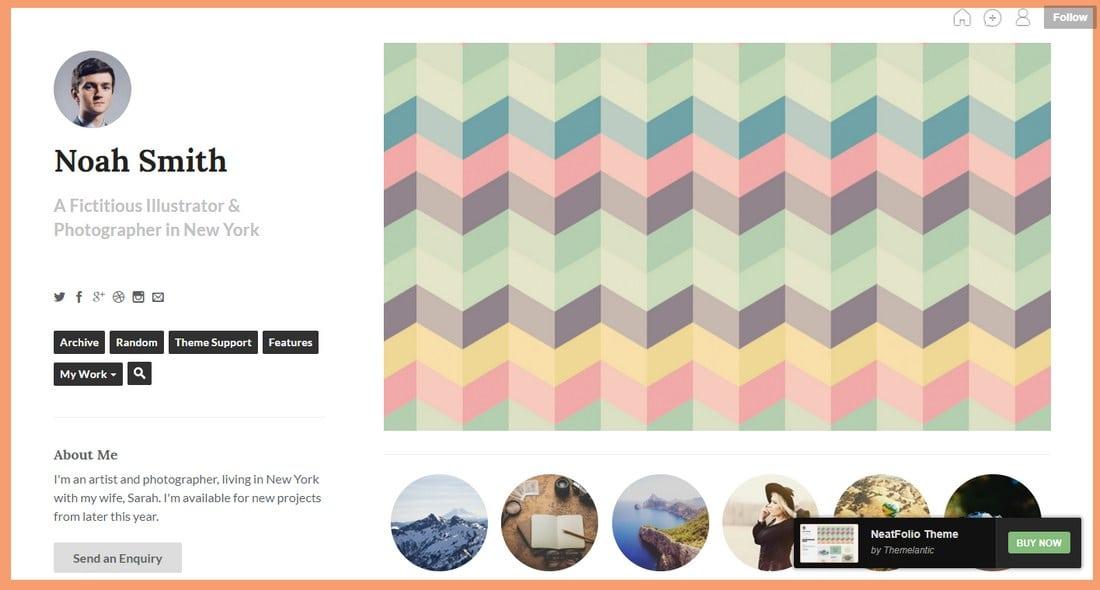 neatfolio-tumblr-theme 50+ Best Free & Premium Tumblr Themes 2018 design tips