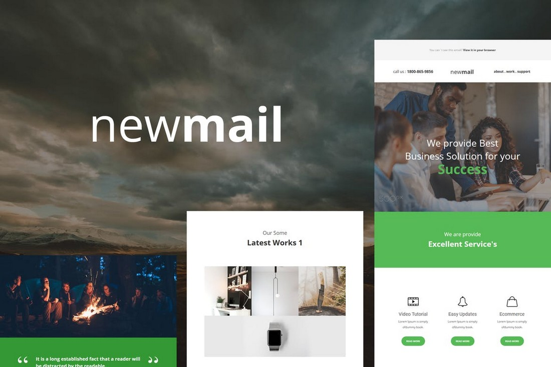 newmail-Responsive-E-mail-Template 40+ Modern Responsive Email Templates 2021 design tips