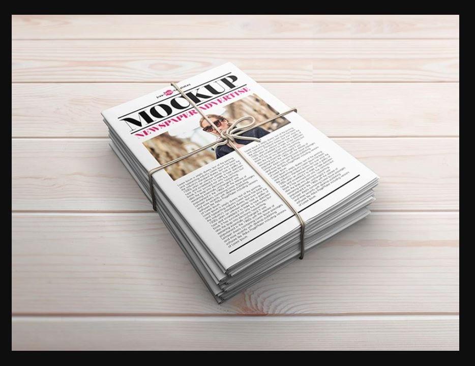 newspaper-mockups-18 20+ Newspaper Mockup Templates (Free & Pro) design tips