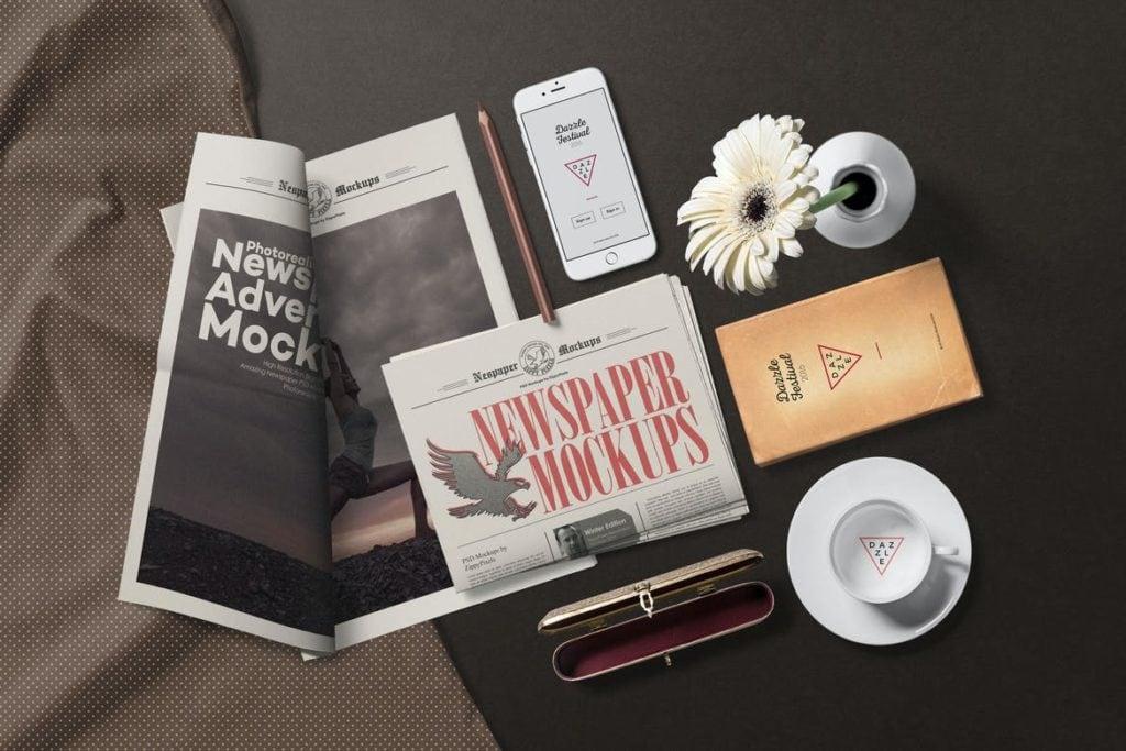 newspaper-mockups-19-1024x683 20+ Newspaper Mockup Templates (Free & Pro) design tips