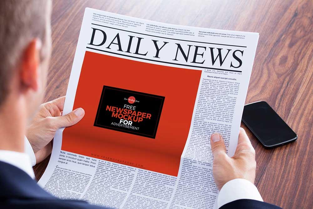 newspaper-mockups-8 20+ Newspaper Mockup Templates (Free & Pro) design tips