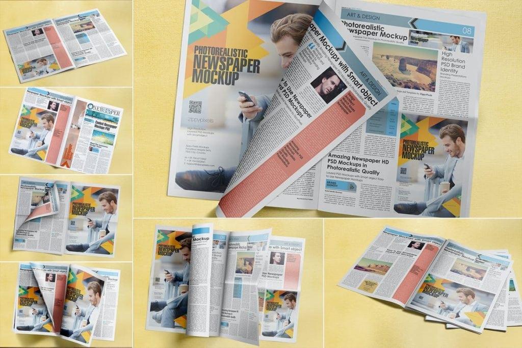 newspaper-mockups-9-1024x683 20+ Newspaper Mockup Templates (Free & Pro) design tips